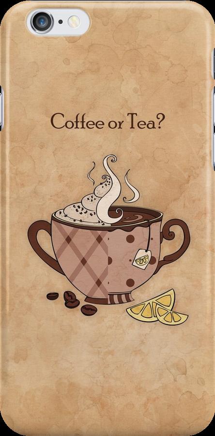 Coffee or Tea? (Case) by Mariya Olshevska
