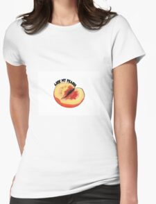 Lick my peach 2 Womens Fitted T-Shirt