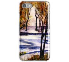 Snow on Lower Pasture Tonight iPhone Case/Skin
