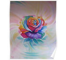 Chakra Rose Poster