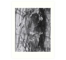 Raw Black and White Abstract  Art Print