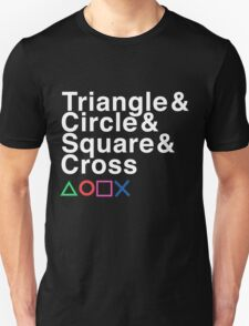 Triangle & Circle & Square & Cross T-Shirt