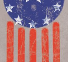 Old World American Flag Sticker
