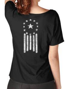 Old World American Flag [WHITE] Women's Relaxed Fit T-Shirt
