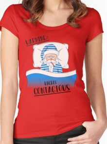Santa Claus' Got The Sniffles Women's Fitted Scoop T-Shirt