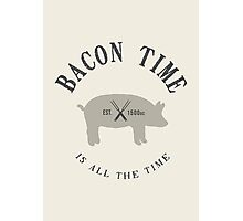 Bacon Time [Black] Photographic Print