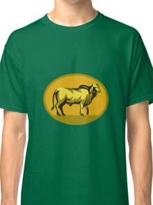 Brahman Bull Oval Retro Classic T-Shirt