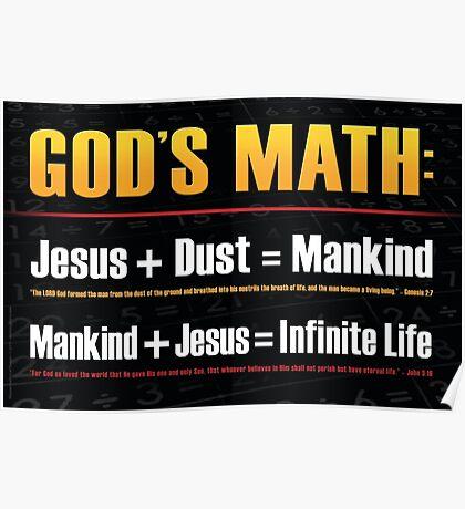 """""""God's Math"""" Poster. Biblical Principles Poster"""