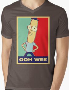 """Rick and Morty: Mr.PoopyButthole """"ooh wee"""" Mens V-Neck T-Shirt"""