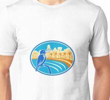 Kingfisher Mediterranean Coast Oval Retro Unisex T-Shirt