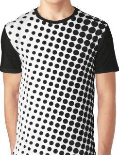 Halftone Black Graphic T-Shirt