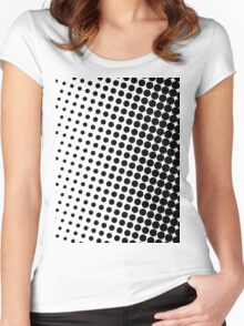 Halftone Black Women's Fitted Scoop T-Shirt
