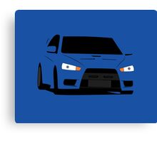 Lancer Evolution X  Canvas Print