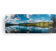 Panoramic view of Beauvert Lake in Jasper Metal Print