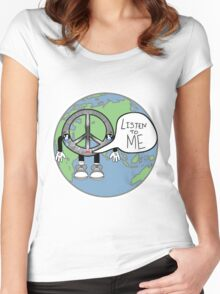 Listen to Peace Women's Fitted Scoop T-Shirt
