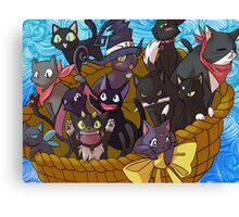 Anime Black Cats Canvas Print