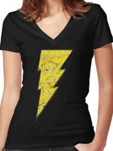 Black Adam - DC Spray Paint Women's Fitted V-Neck T-Shirt