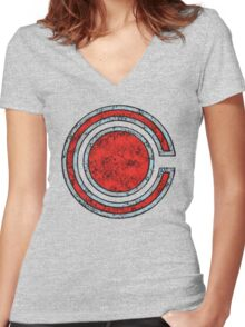 Cyborg - DC Spray Paint Women's Fitted V-Neck T-Shirt