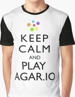 Agar.io KEEP CALM AND CARRY ON Graphic T-Shirt