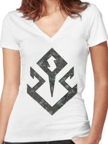 Doomsday - DC Spray Paint Women's Fitted V-Neck T-Shirt