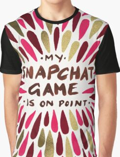 Snapchat – Red & Gold Graphic T-Shirt