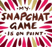 Snapchat – Red & Gold Sticker