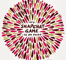 Snapchat – Red & Gold by Cat Coquillette