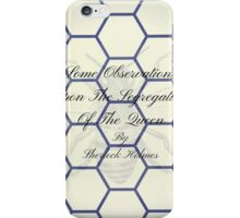 Second Book by Sherlock Holmes during retirement iPhone Case/Skin
