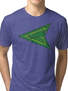Green Arrow - DC Spray Paint Tri-blend T-Shirt