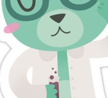 Green Science Bear Sticker