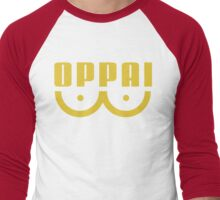 Oppai One Punch Man (Yellow) - Anime  Men's Baseball ¾ T-Shirt