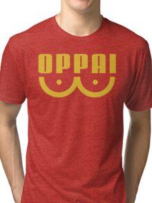Oppai One Punch Man (Yellow) - Anime  Tri-blend T-Shirt