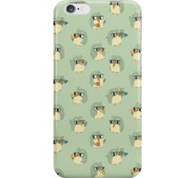 Cute Green Penguin Character iPhone Case/Skin