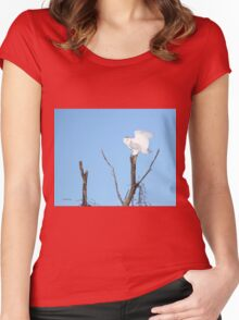 Heaven is that way Women's Fitted Scoop T-Shirt