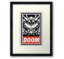 DOOM (OBEY Parody) - Full Color Framed Print