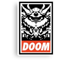 DOOM (OBEY Parody) - Full Color Canvas Print