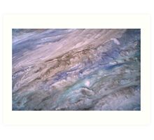 Jupiter Skies Relaxing Blue Celestial Abstract Art Art Print