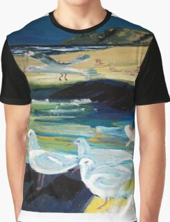 Silver Gulls - Australia Graphic T-Shirt