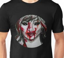 Blood Covered Demon Girl Unisex T-Shirt