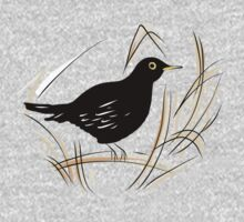 Male Blackbird One Piece - Short Sleeve