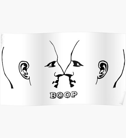 Nose to Nose Boop Poster