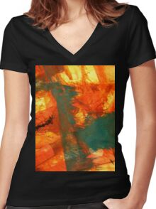 Abstract 350 Women's Fitted V-Neck T-Shirt