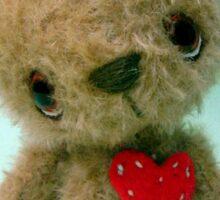 Handmade bears from Teddy Bear Orphans - Joshua Sticker