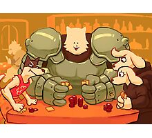 Undertale - Dog Poker Photographic Print