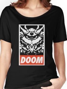 DOOM (OBEY Parody) - Black Shirt Version Women's Relaxed Fit T-Shirt