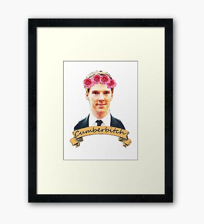 Cumberbitch shirt Framed Print