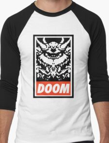 DOOM (OBEY Parody) - White Shirt Version Men's Baseball ¾ T-Shirt