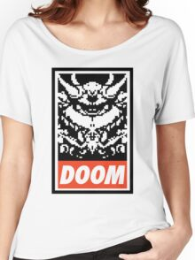 DOOM (OBEY Parody) - White Shirt Version Women's Relaxed Fit T-Shirt