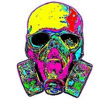 Toxic skull Photographic Print
