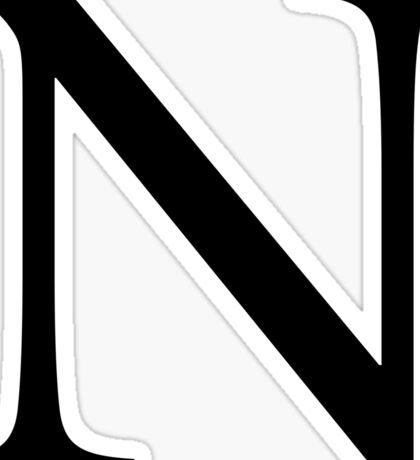 Nu Greek Letter Sticker